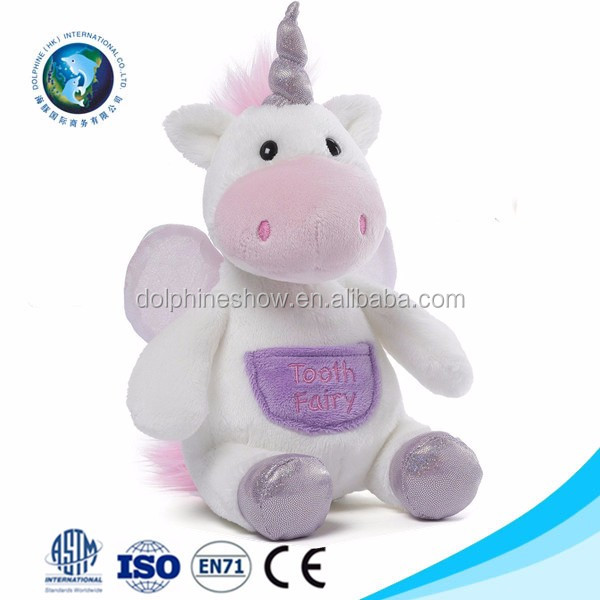 2017 White Soft Toy Unicorn For Girl Wholesale Cheap Custom Cartoon Stuffed Animal Unicorn Plush Toy