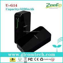 China factory CE,FCC,RoHS 5200mAh Lithium-polymer rechargeable dual usb portable charger power bank
