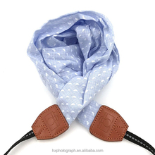 Fabric Bohemia Floral Scarf Camera Strap For Women (blue and white)
