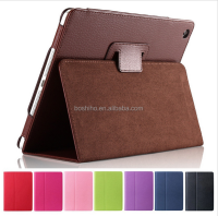 Magnetic Auto Wake Up Sleep Flip Litchi Leather Case For Apple ipad 2 3 4
