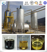 85% oil yield CE quality Eco-friendly used engine oil recycling machine