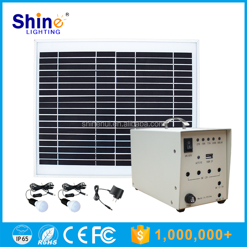 Portable Solar System 10W solar power DC and AC system used solar generators for sale