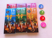 pouring paraffin wax candle color tea light candle for india diwali
