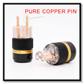 100% Transparent 100% Pure Copper UNPlated Schuko EU AC Power Plug IEC Female Power Plug connector High end