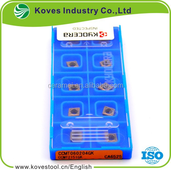 Cemented Kyocera Carbide Turning Inserts CCMT060204GK CA6525 for cnc machine tool