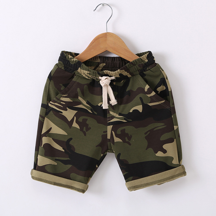 Hu Sunshine 2-7 years New 2017 Wholesale Summer Cotton Camouflage Kids Boys Shorts (pick size color )