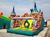 Alcazar Knight Theme Inflatable Castle Slide with Climbing Wall,Inflatable Kids Slide