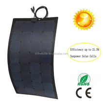 marine etfe 150w mono semi flexible solar panel 150w from china manufactuer