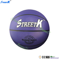 streetk brand 2017 new custom logo basketball ball purple standard size cheap rubber ball basketball 3