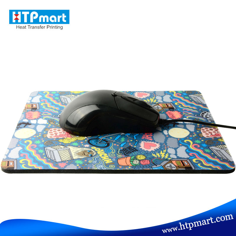 Manufacturer custom printed rubber rectangle mouse pads with cheap price
