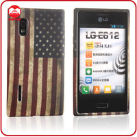 Vintage National USA Soft TPU Silicon Custom Design Flag Phone Case for LG E610 Optimus L5