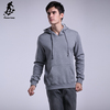 Gray fleece warm pullover sweatshirt hoodie long sleeve winter hoodies