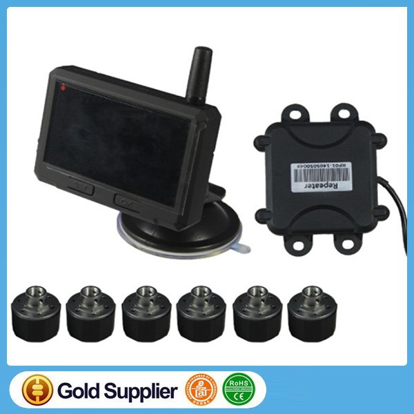 For bus and Truck Tire Pressure Monitoring System (TPMS) for car with 4 External sensors support 6-22 Tires
