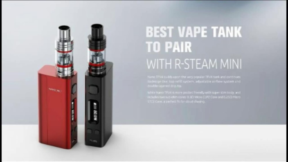 New Products 2016 Smok R-Steam Mini 80W with Nano TFV4 Tank Direct buy China