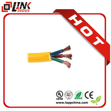 Solf rubber pvc sheath electrical cable, 3core flat electric copper wire 0.75mm2 cable size