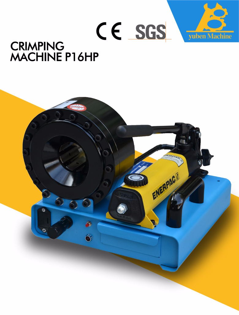 Competitive than finn-power hose crimping machine YB-P16HP professional hydraulic hose crimping machine