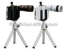 8x zoom lens for iphone 4 4s with tripod black whtie