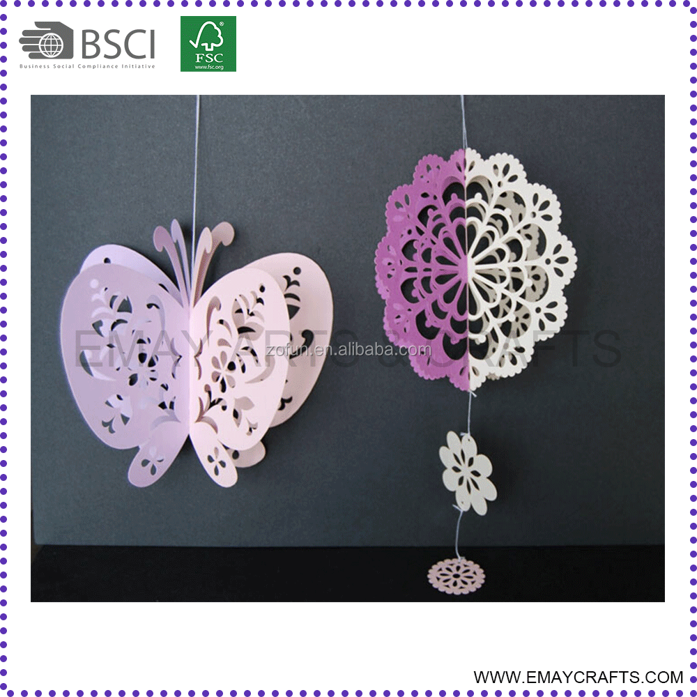 3d laser cut paper butterfly for wedding decoration
