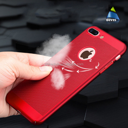 Summr mesh pc heat dissipation mobile phone case cover for iphone 7,heat radiating case for iphone7 back cover