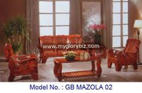 Antique Solid Wood Wooden Sofa Set With Coffee Table And Side Table For Living Room Furniture