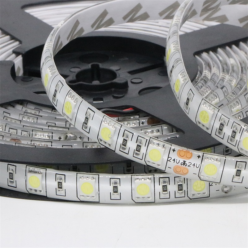 24V IP65 Waterproof Flexible DC 24V LED Strip 5050 300leds Lighting Led Tape Ribbon Outdoor