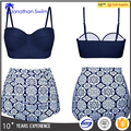 Womens Retro Vintage Polka Underwire High Waisted Swimsuit Bathing Suits Bikini
