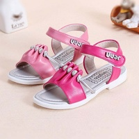 TSW8360 Wholesale soft sole peep toe fancy beaded little girls sandals