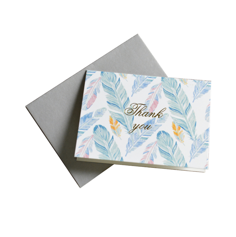 Wholesale Gold Foil Floral Wedding Baby Birthday Thank You <strong>Cards</strong> Note