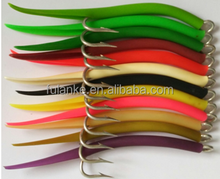 sea fishing cod lures - GUMMI LURES eel hook with tube rubber lure for mackerel rubber hook