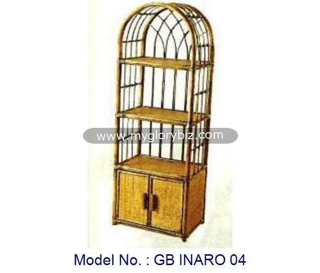 Antique Natural Rattan Rack Furniture With Door For Home Storage, rattan home furnitures, tall antique doored racks