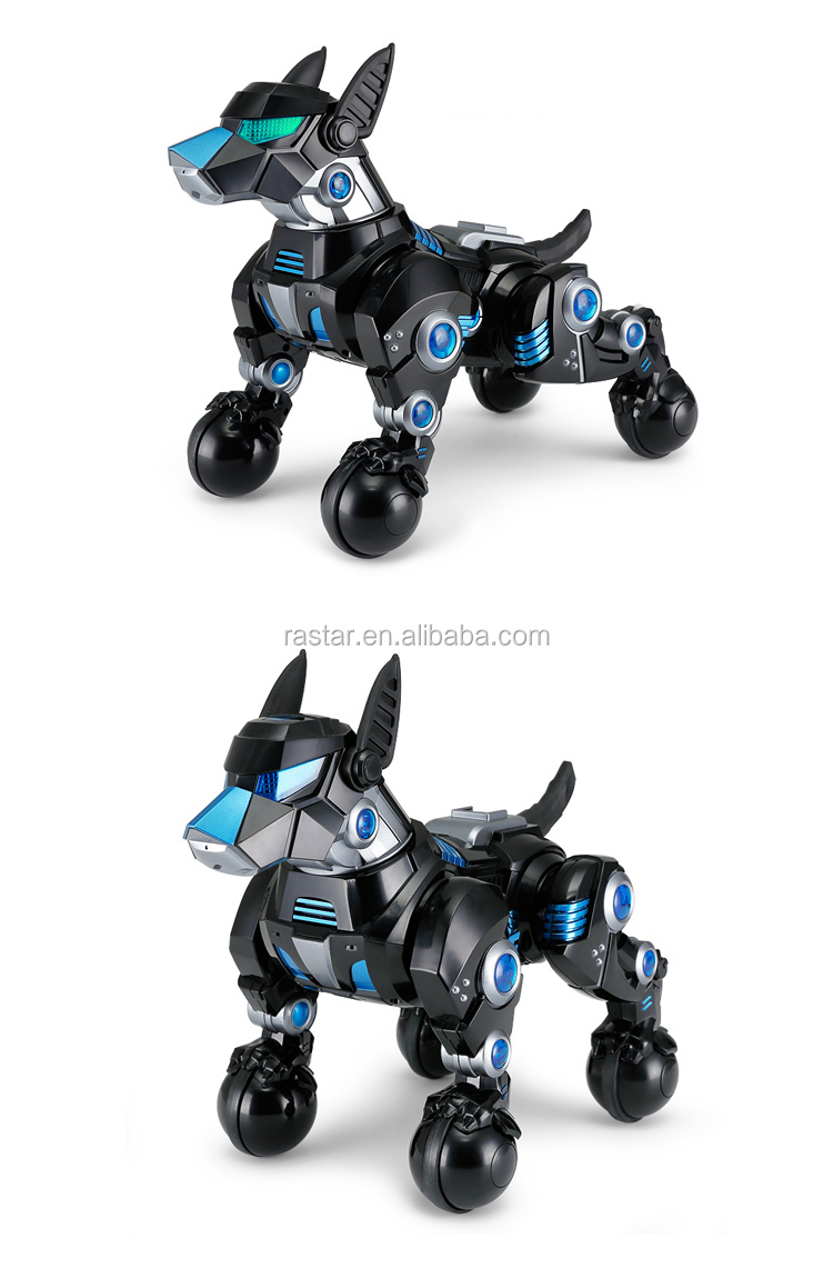 Rastar factory price electric musical rc robot dog toy for sale