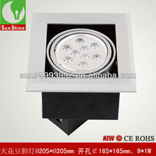 Guangzhou 9x1W led bean pot light ceiling lamps