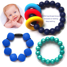 Baby Chewable Safety Food Grade Silicone Bead Bracelet