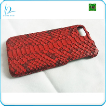 Luxury genuine exotic real python skin leather case cover for iphone 7