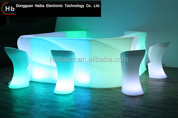 bar furniture led luminous cocktail table/glow mobile cocktail bar counter/led portable cocktail bar