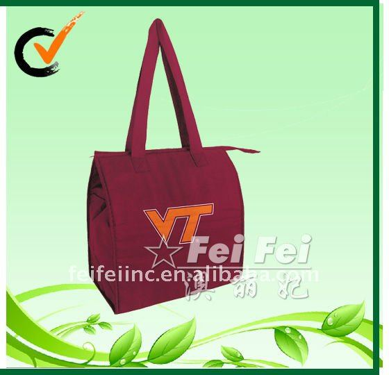 Printed non woven food insulated totes