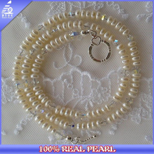 2014 CHINA NEW FASHION 5-6MM BUTTON WHOLESALE PEARL FLOWER FASHION JEWELRY