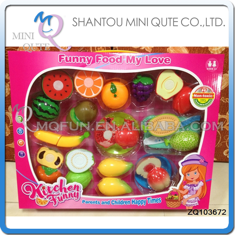 MINI QUTE Pretend Preschool Funny cutting food fruit Vegetable kitchen play house set learning educational toys NO.ZQ103672