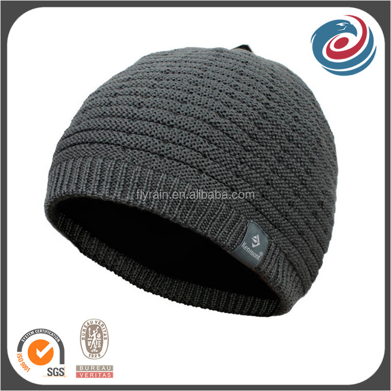 double layer keep warm winter beanie polar fleece knitted hat