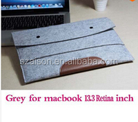 "Free Shipping 11"""" 13"" 15"" Laptop Case Woolen Felt Notebook Sleeve Bag Ultrabook Pouch For Macbook Air Pro"