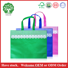 China cheap custom printing non woven bag with lace style