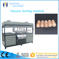 latest technology double working station egg tray making machine