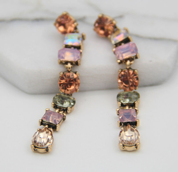 new fashion jewelry made in china, vintage beautiful long drop earrings jewelry made in china