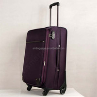 2015 High Quality Purple Suitcase, nylon material trolley luggage