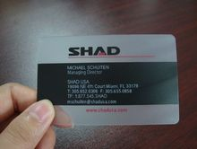 Free Sample Frosted Transparent pvc visiting cards