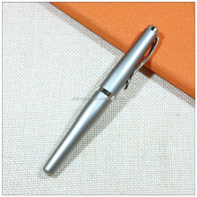 Customized printing curvaceous gun grey roller metal gel ink pen with logo clip