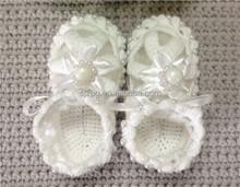Wholesale fashionable knitted baby shoes baby crocheted sandal 2015.