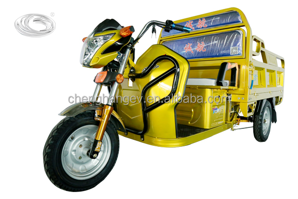 48v, 800w three wheel electric tricycle with cabinfor cargo