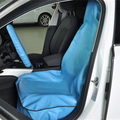 Auto Interior Accessories Blue Artificial PVC Leather Car Seat Covers