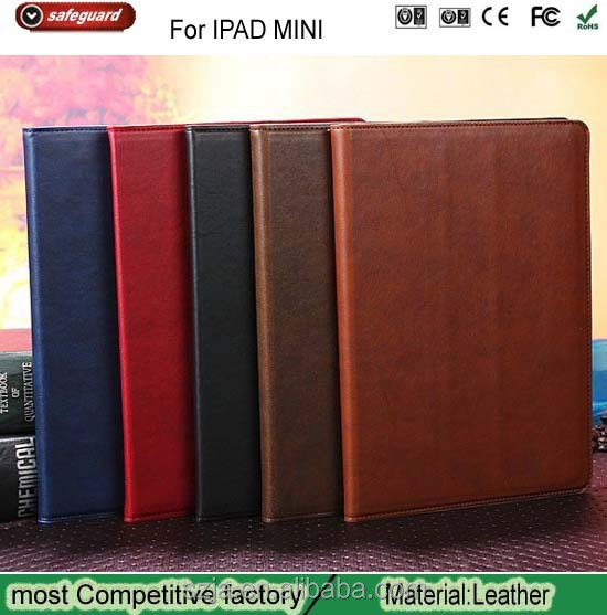 New Arrival Factory Leather Flip Case for ipad mini Pattern Holster Leather Case For ipad Holster wholesale